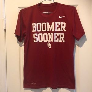 Nike Boomer Sooner T-shirt dry fit small